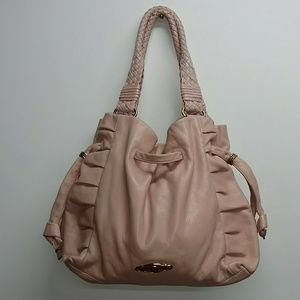 Elliott Lucca Blush Pink Leather Drawstring Purse